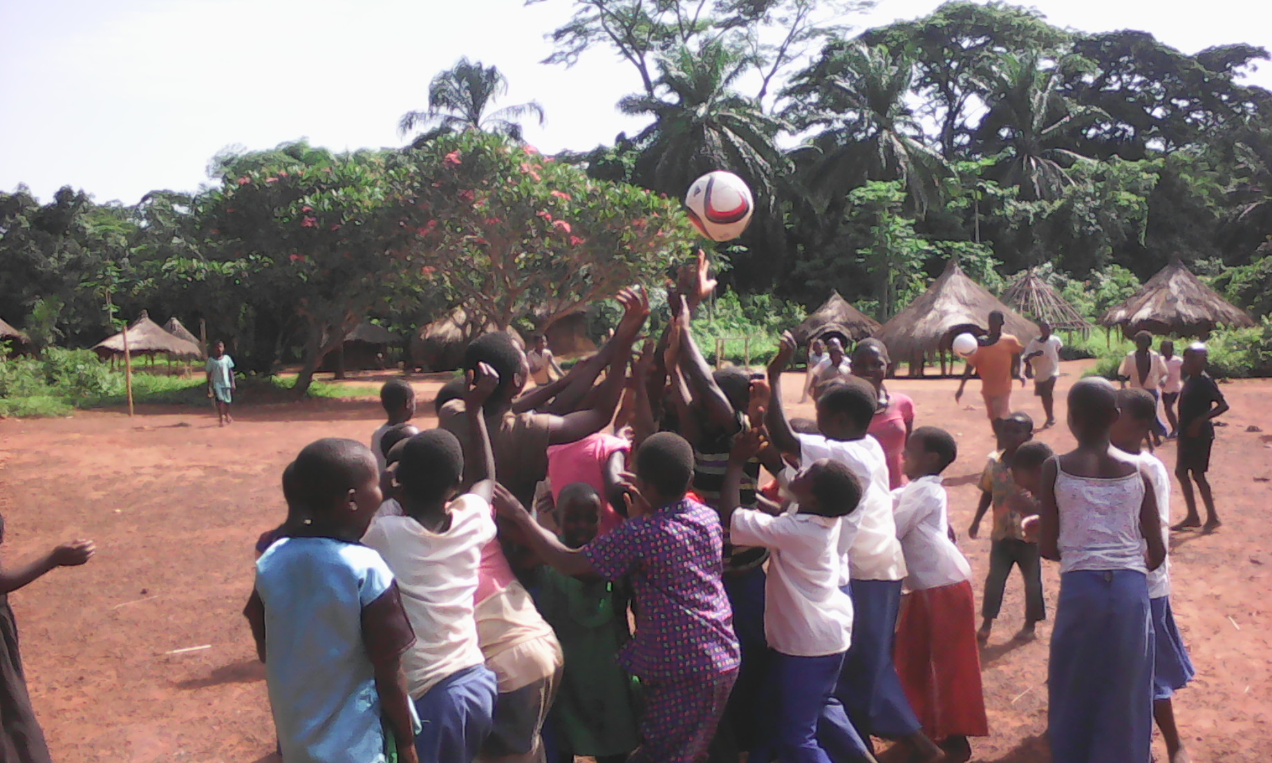 Football in the Democratic Republic of the Congo village of Epi